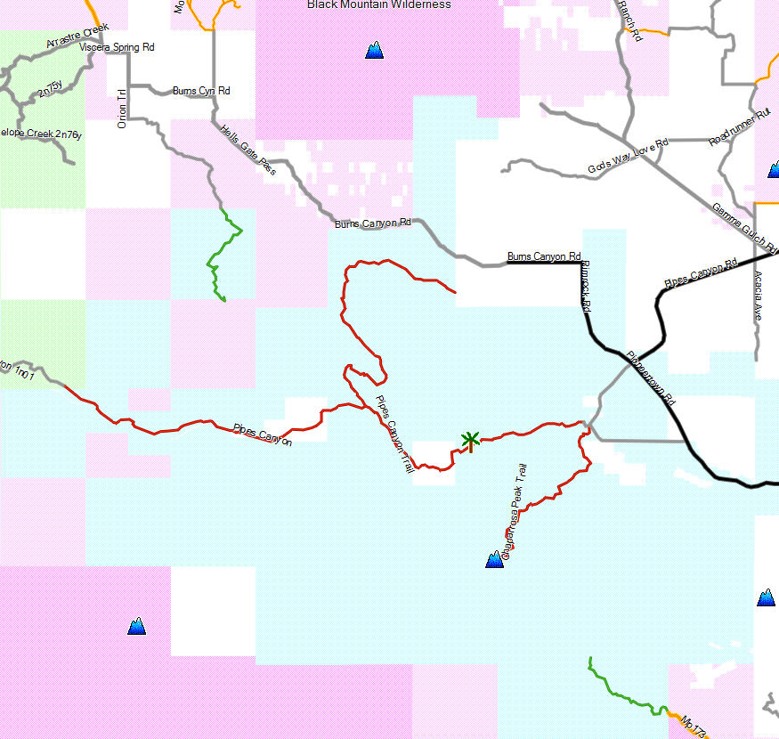 Pioneertown Mountains Preserve California Trail Map